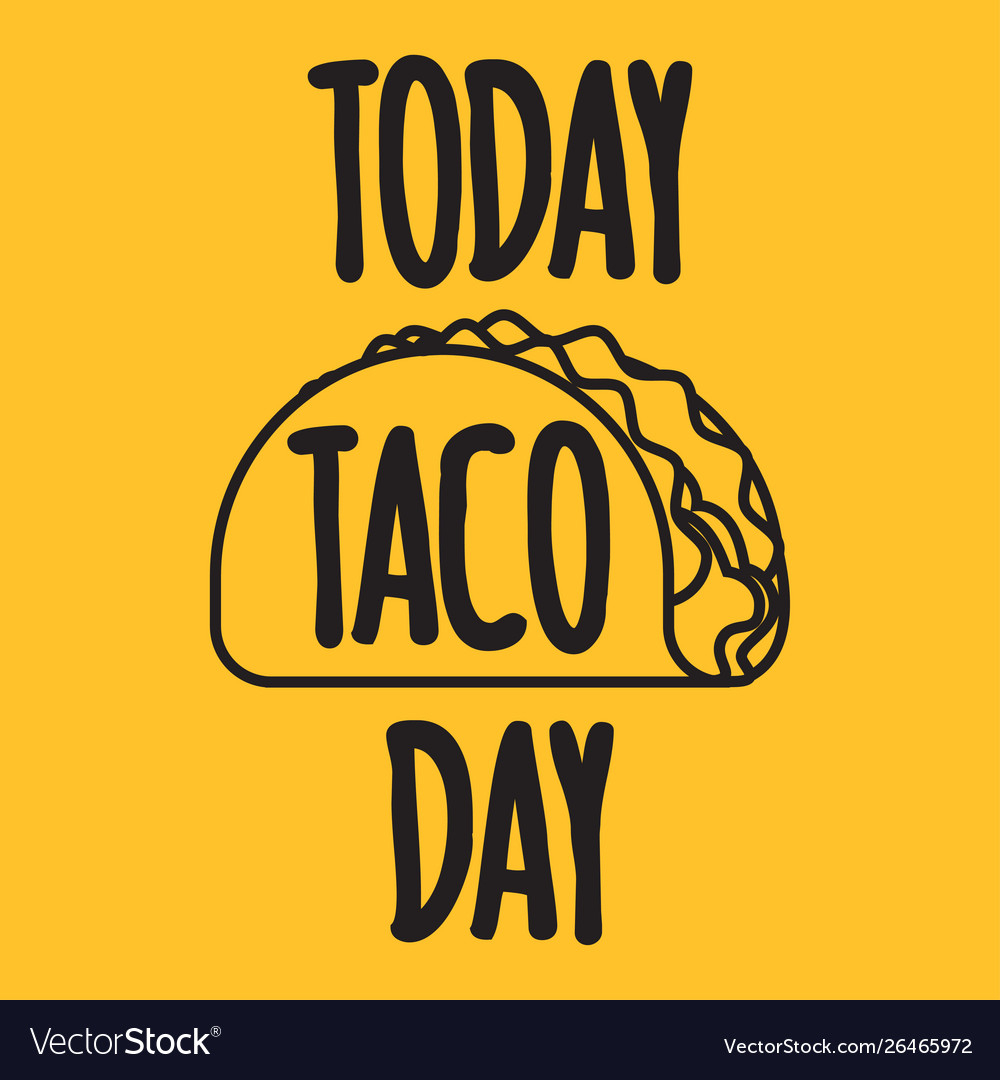 Today taco day banner
