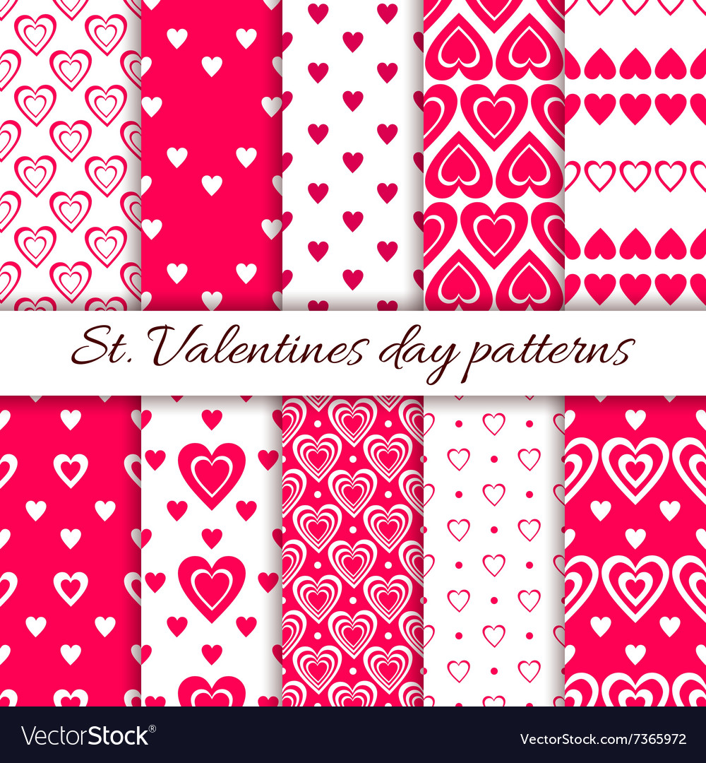 Valentine day seamless pattern