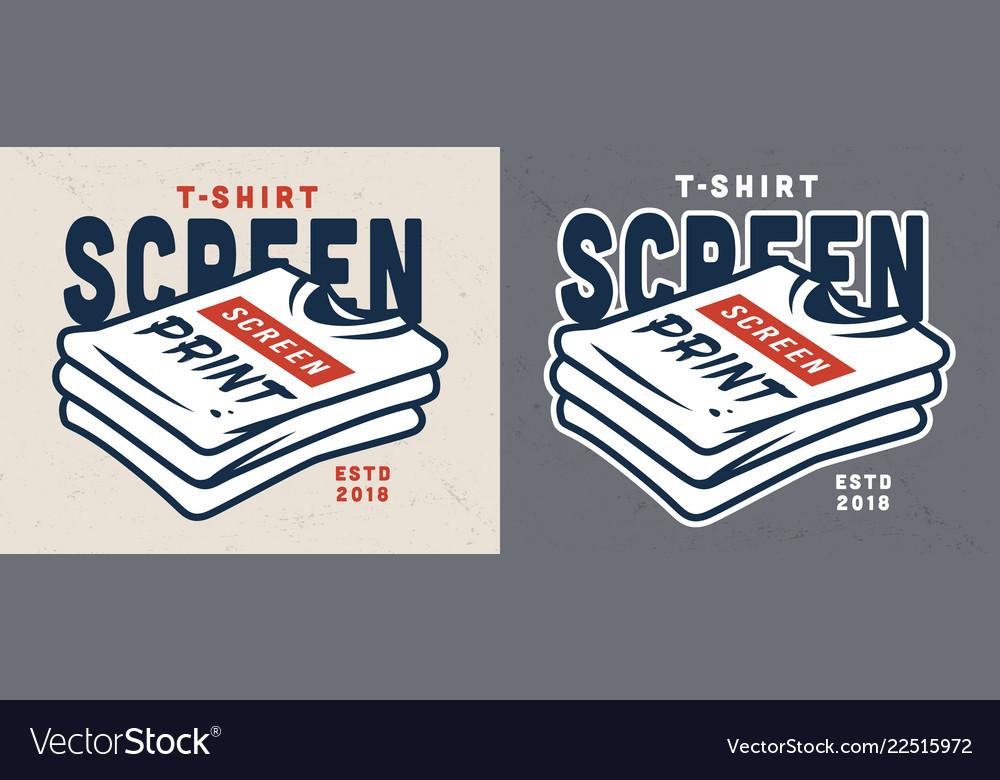 Vintage screen printing template