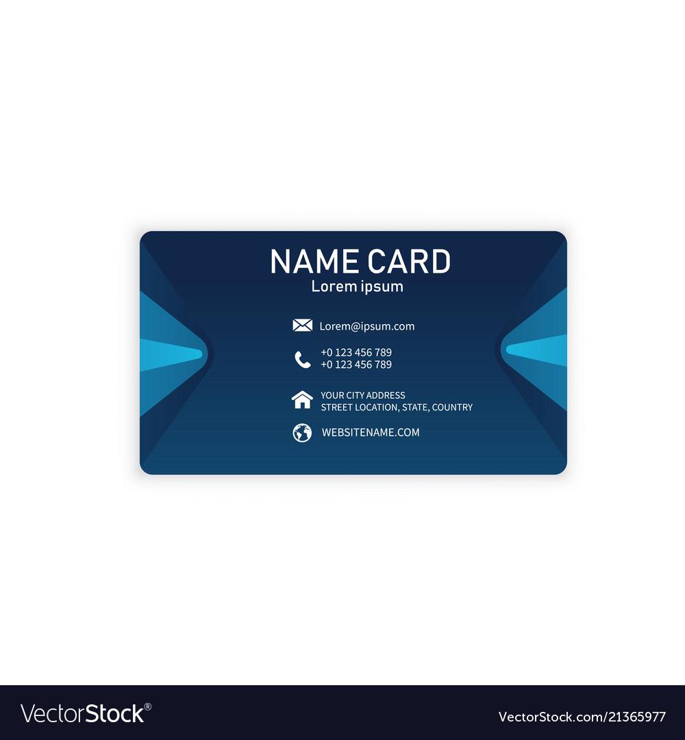 Blue modern creative business name card ima