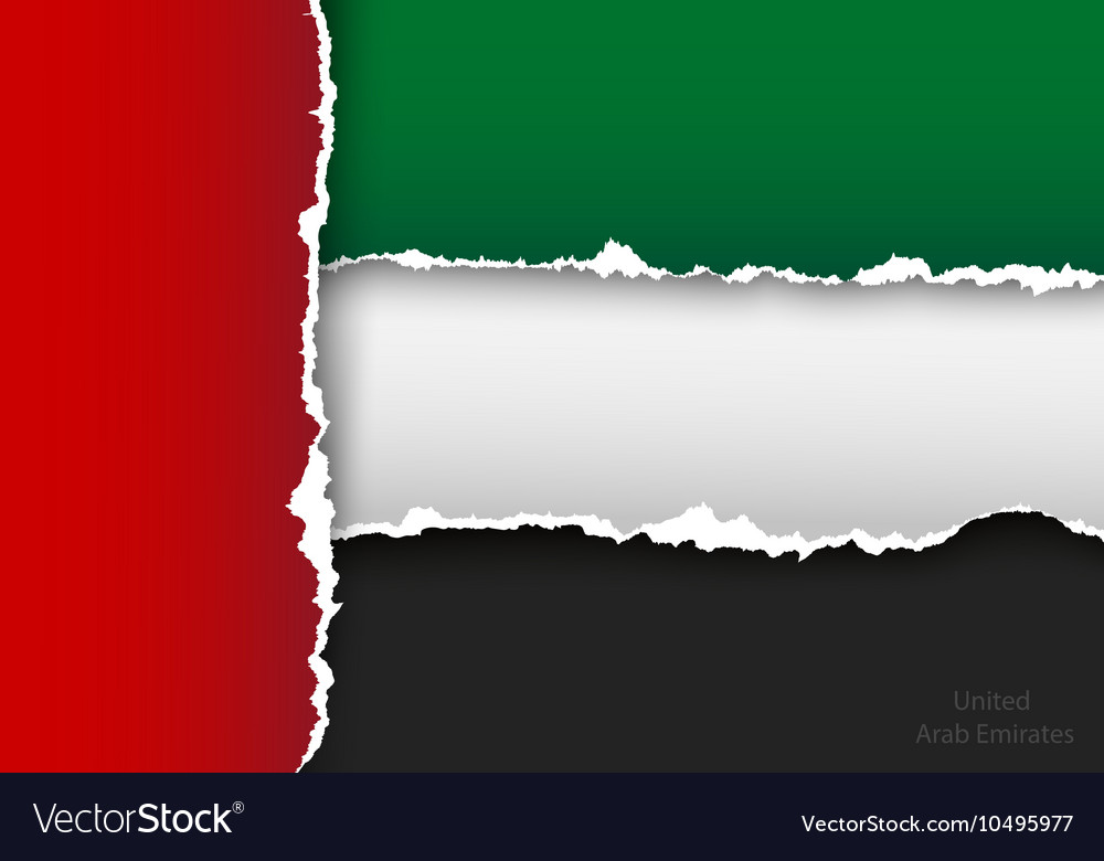 Design flag united arab emirates from torn papers