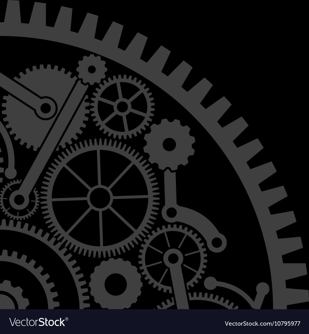 Gear background second variant vector image