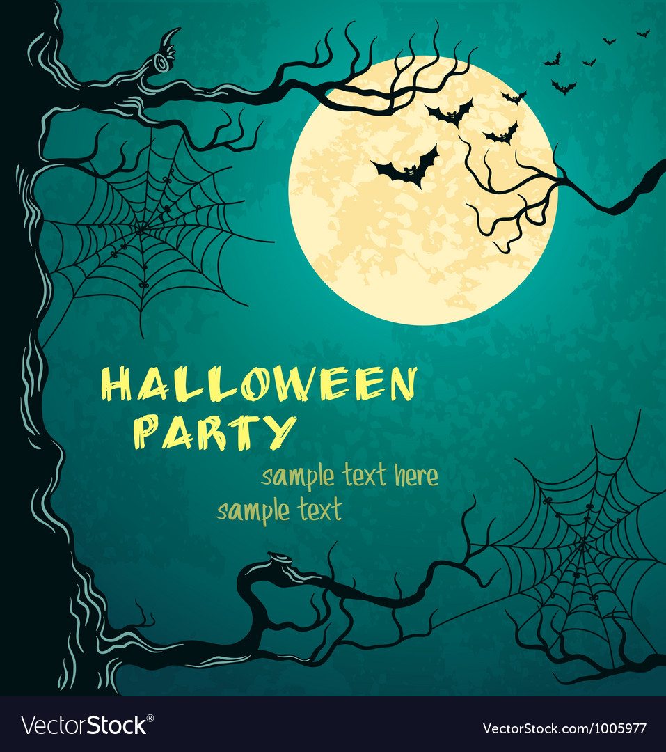 Green grungy halloween background vector image