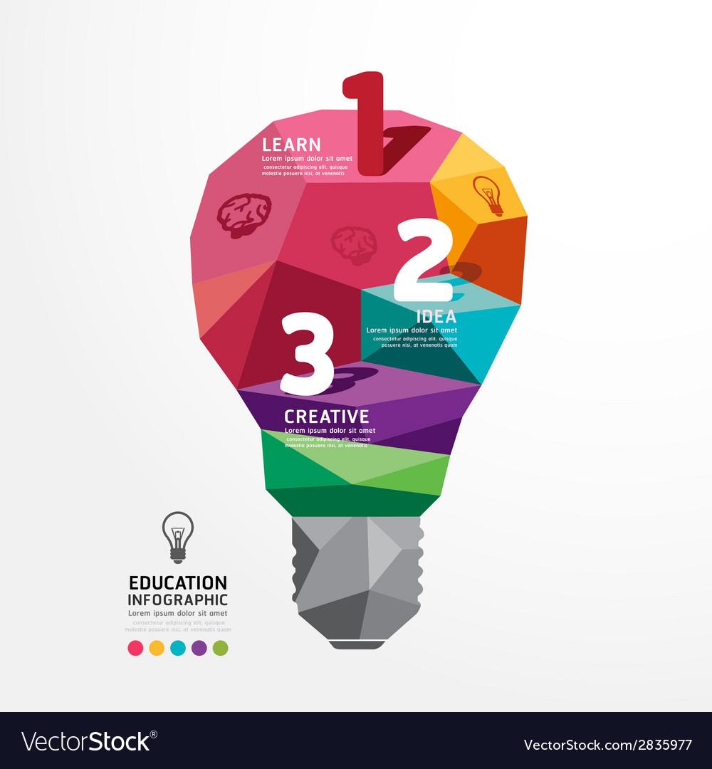 Infographic light bulb Design Conceptual Polygon