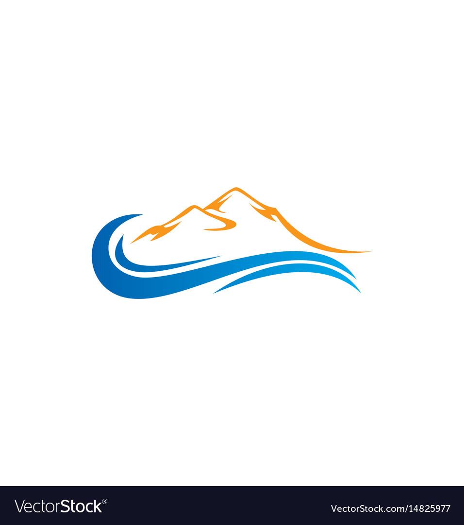 Mountain water abstract logo