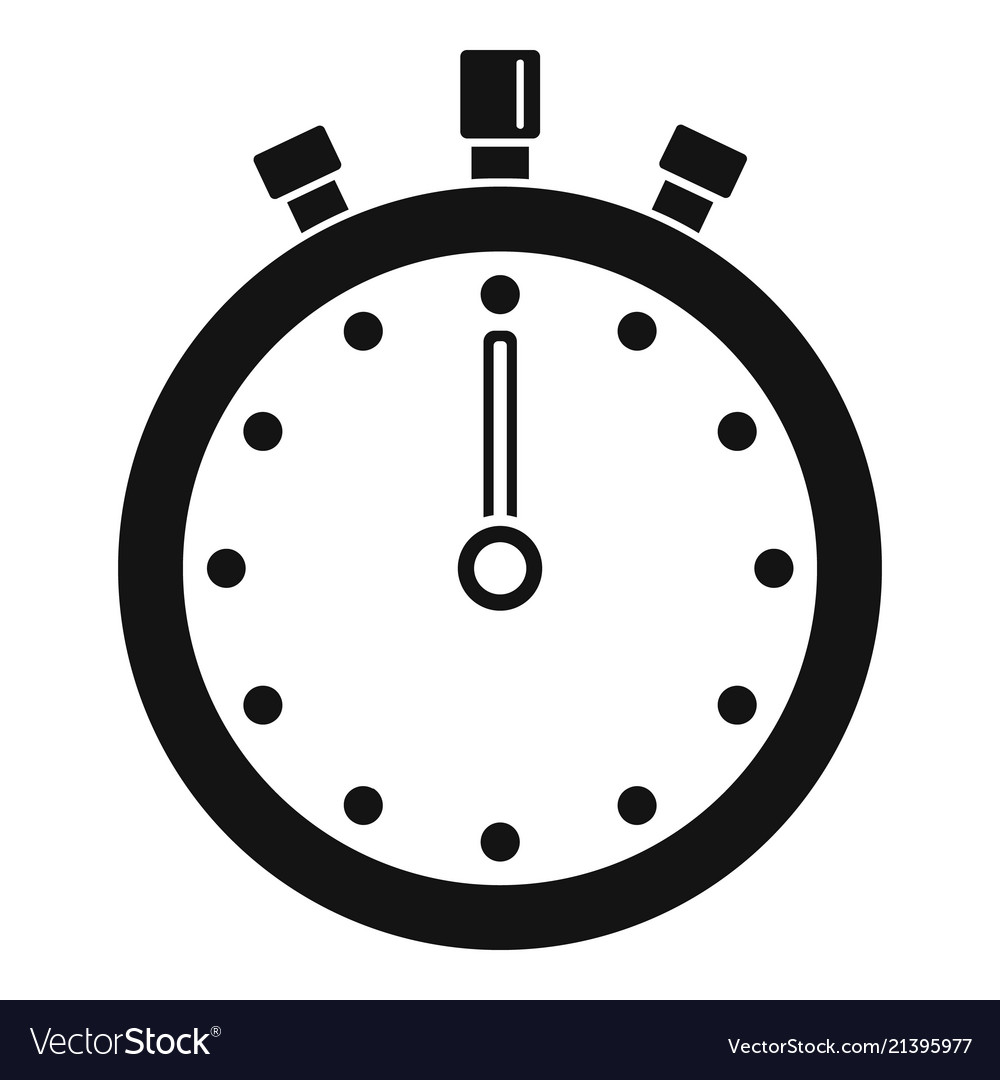 Stopwatch icon simple style