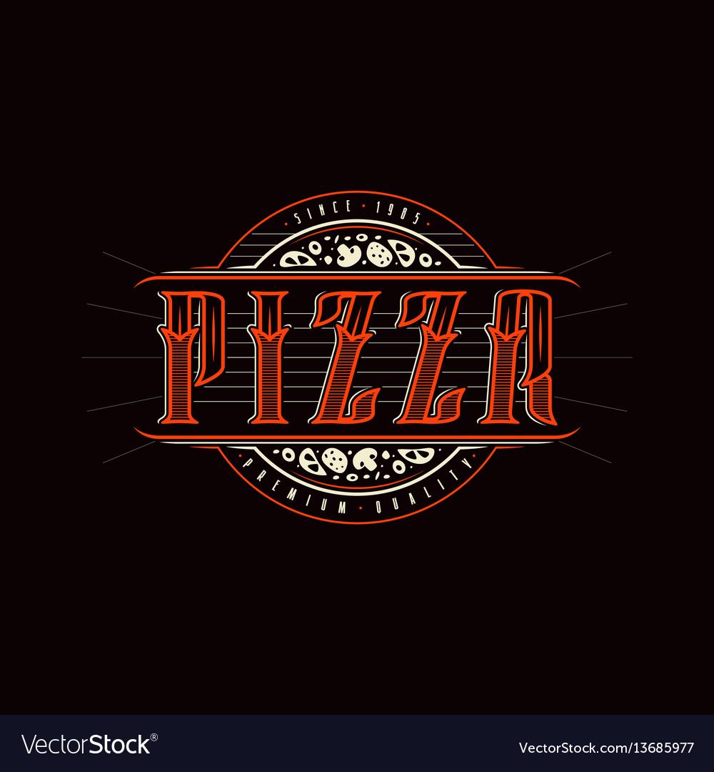 Vintage label for pizza