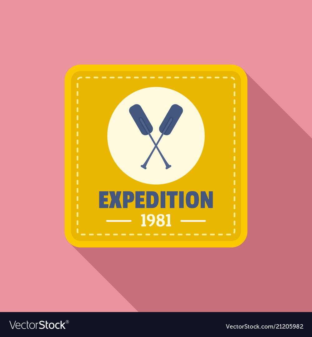 Camp expedition logo flat style