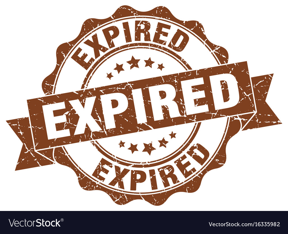 Expired stamp sign seal