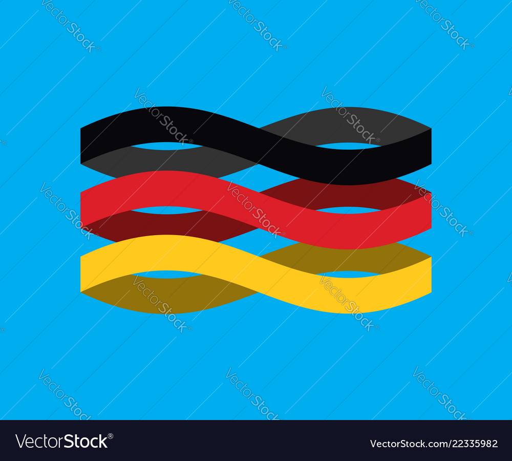 Germany flag ribbon isolated german symbol