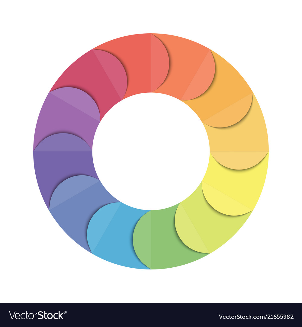pie chart circle infographic template with 12 vector image