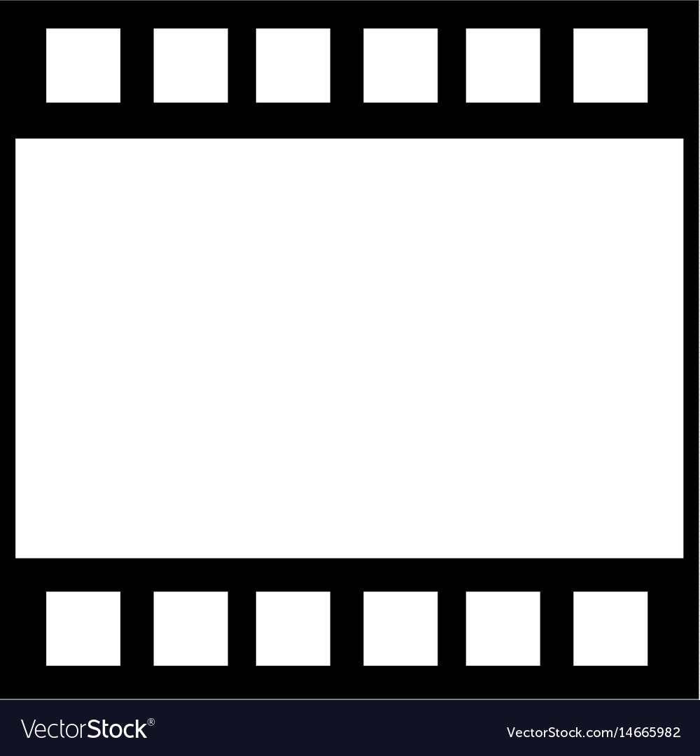 Strip film frame cinema template image Royalty Free Vector
