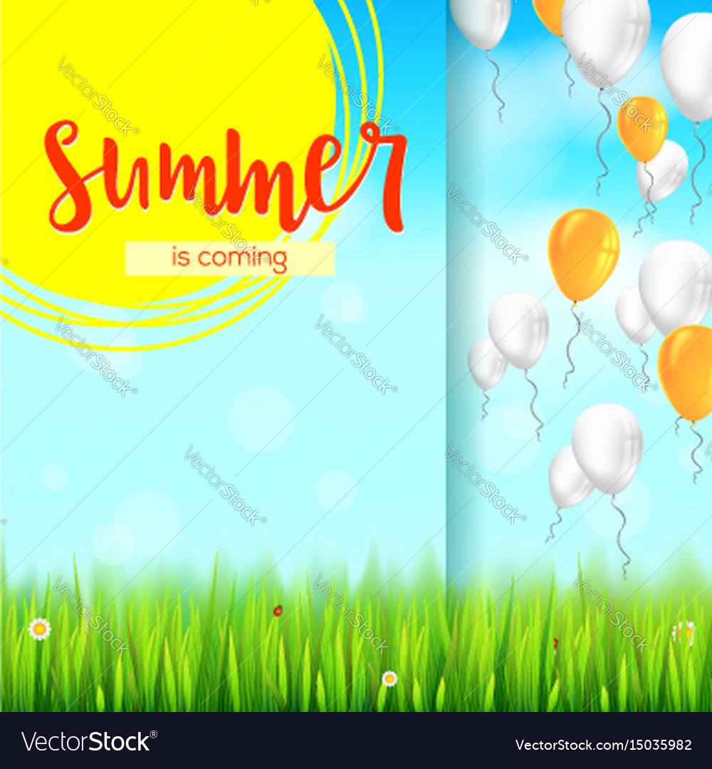 Stylish Summer Advertisement Background Blue Vector Image