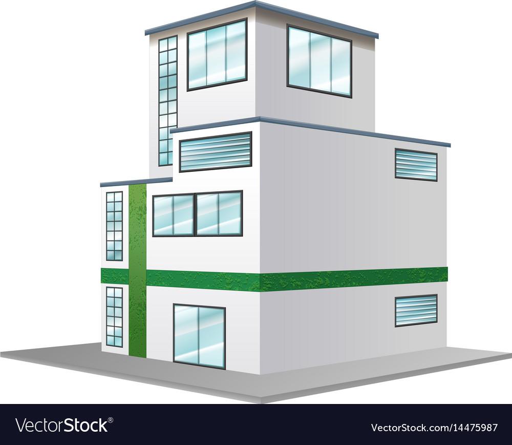 3d design for modern building vector image