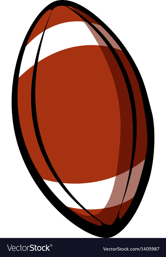 A rugby ball vector image