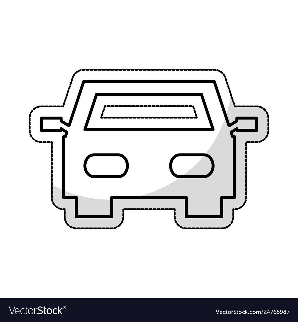 Car auto vehicle isolated icon