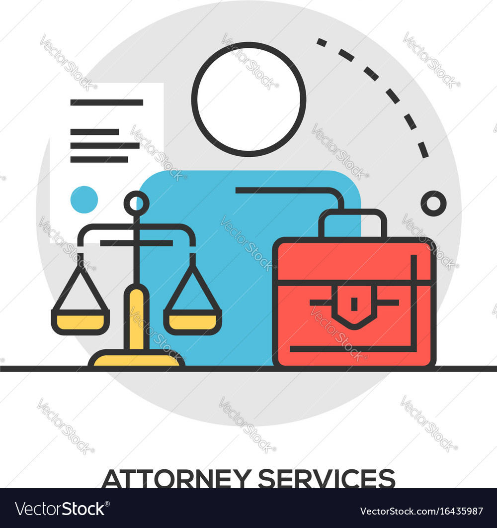 Lawyer concept modern line style concept