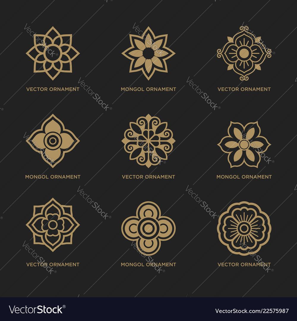 Mongolian traditional art pattern