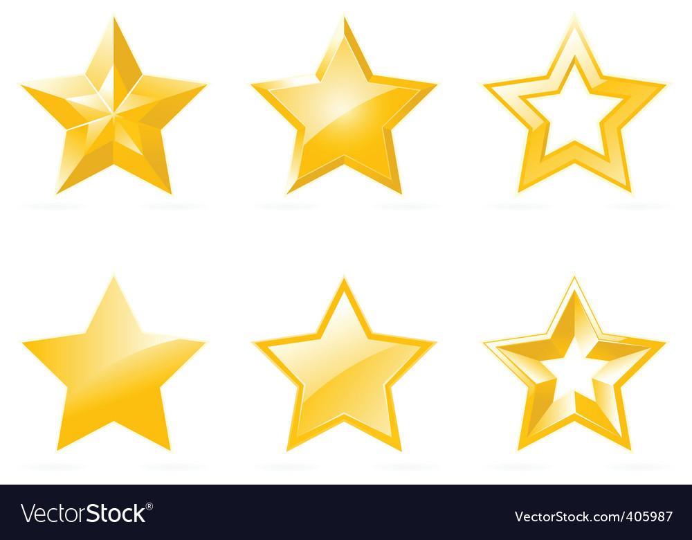 Set of shiny star icons