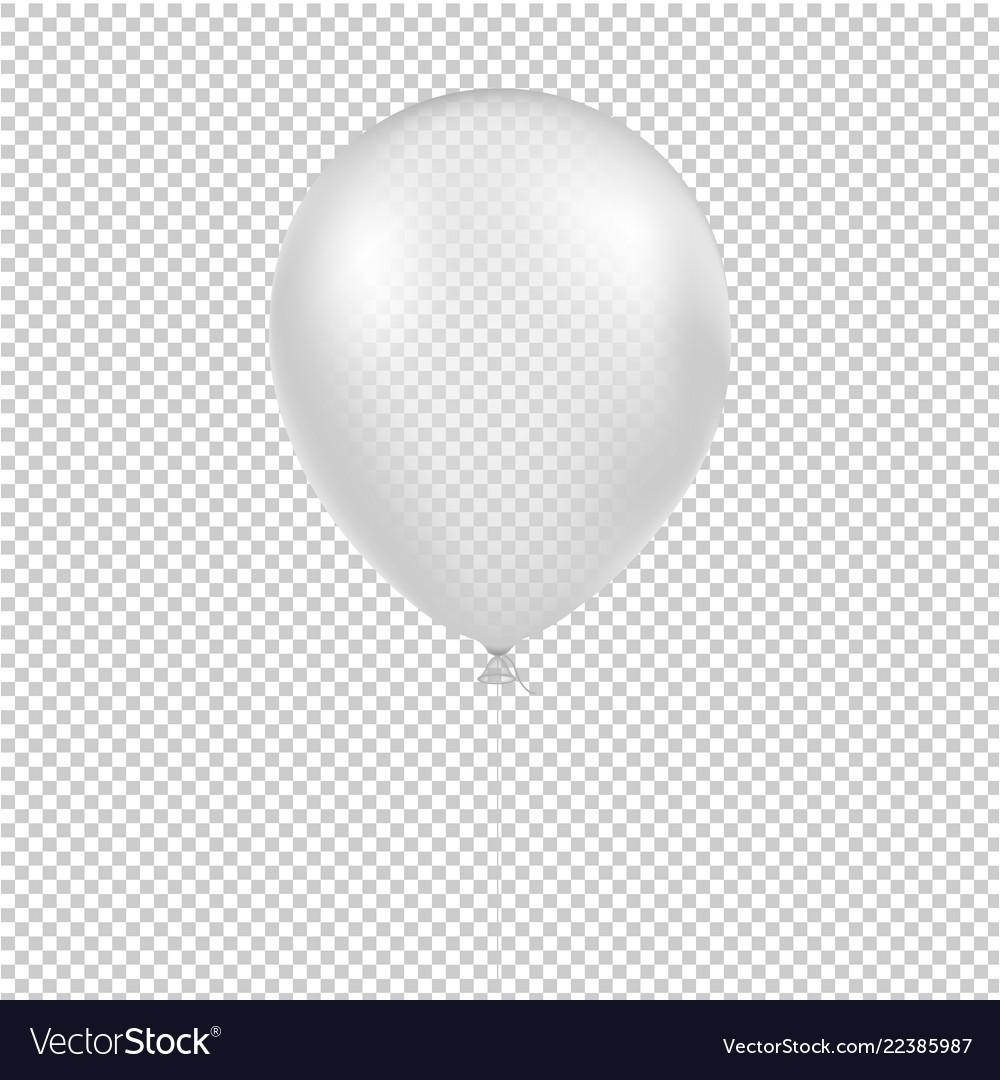White balloon isolated