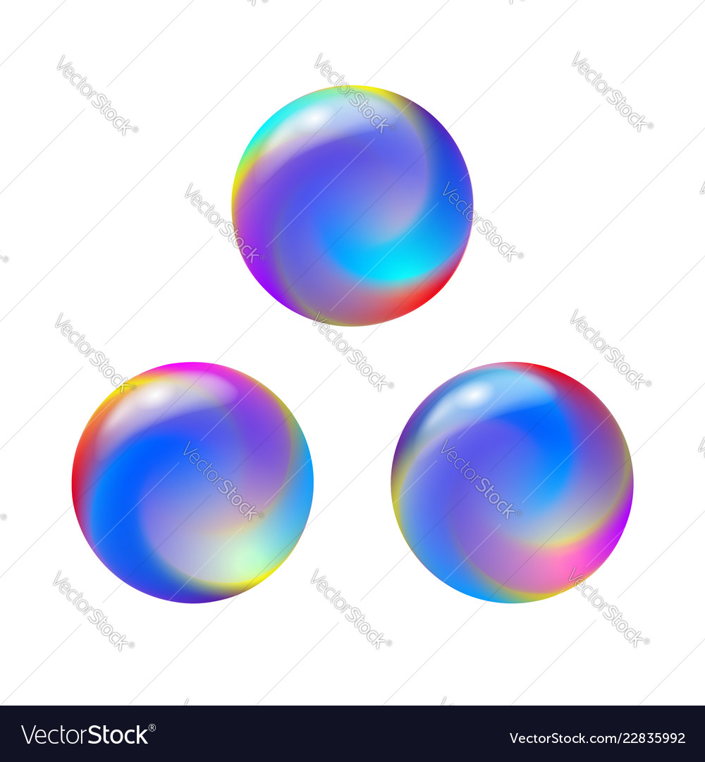 Abstract color round forms set gradient fluid