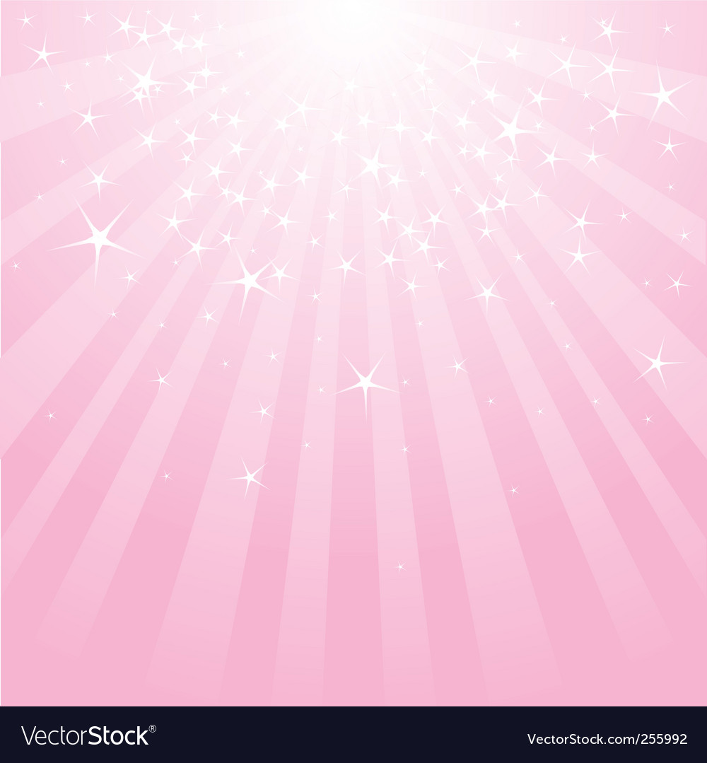 Abstract pink stars and stripes vector image