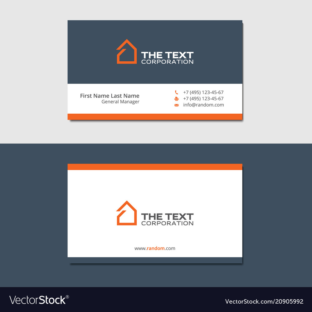 business cards template for real estate agency vector image