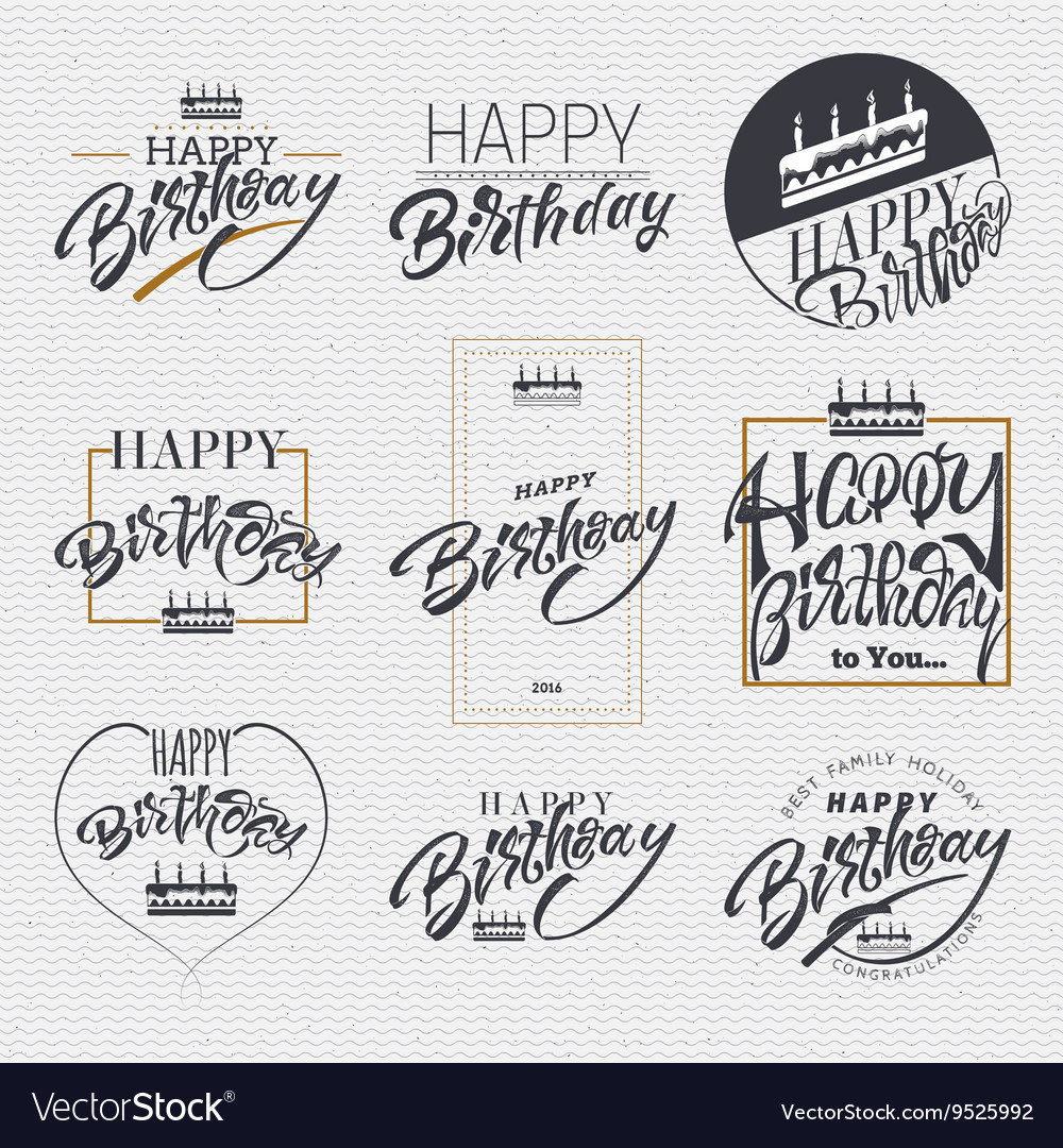 Happy birthday card sticker can be used to vector image