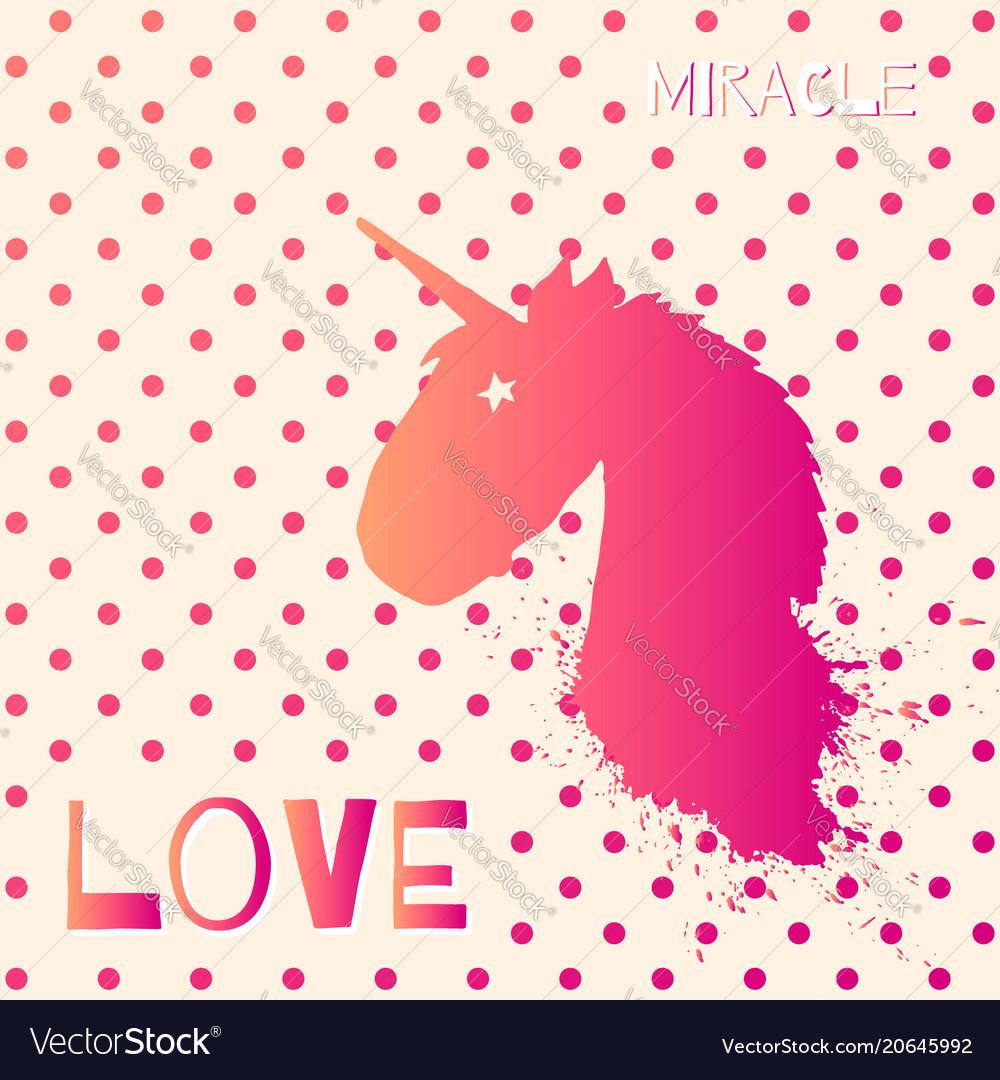 magic unicorn head logo template royalty free vector image