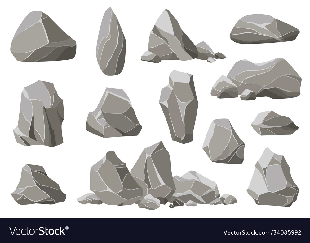 Rock stones and debris mountain gravel