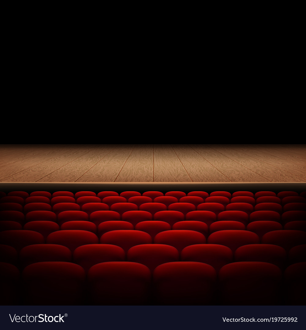 Rows Of Red Cinema Or Theater Seats Isolated On Vector Image