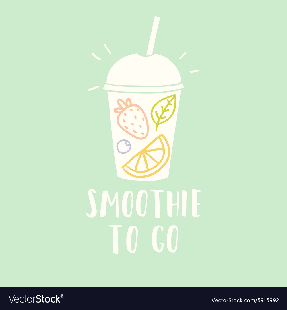 Smoothie cup to go vector image