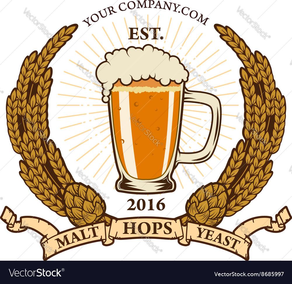 beer label template royalty free vector image vectorstock
