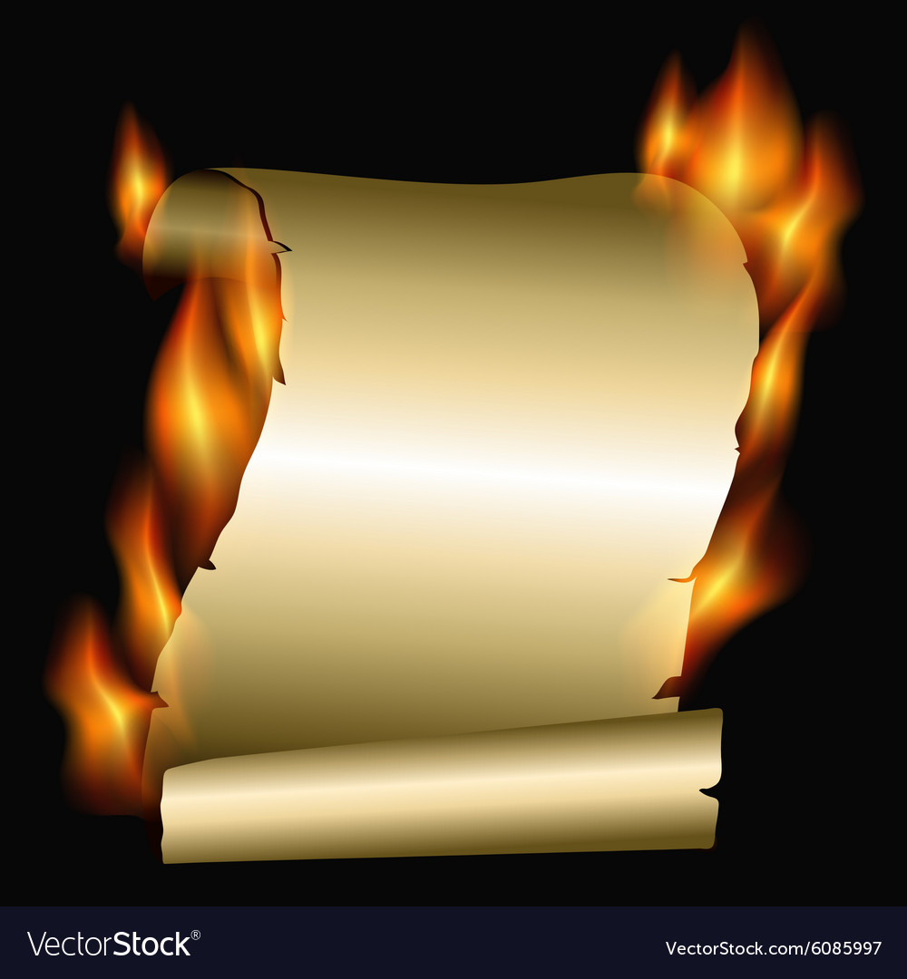 Burning scroll