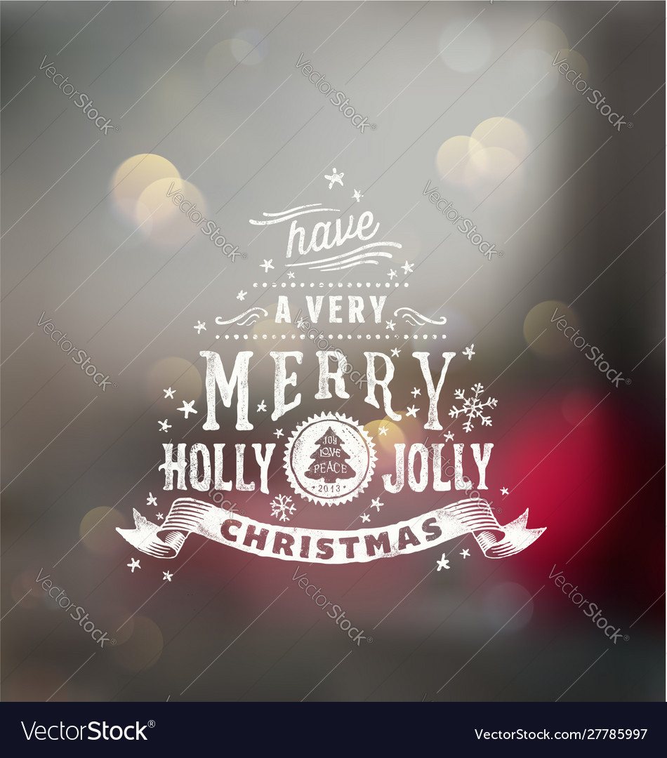 Christmas typography handwriting