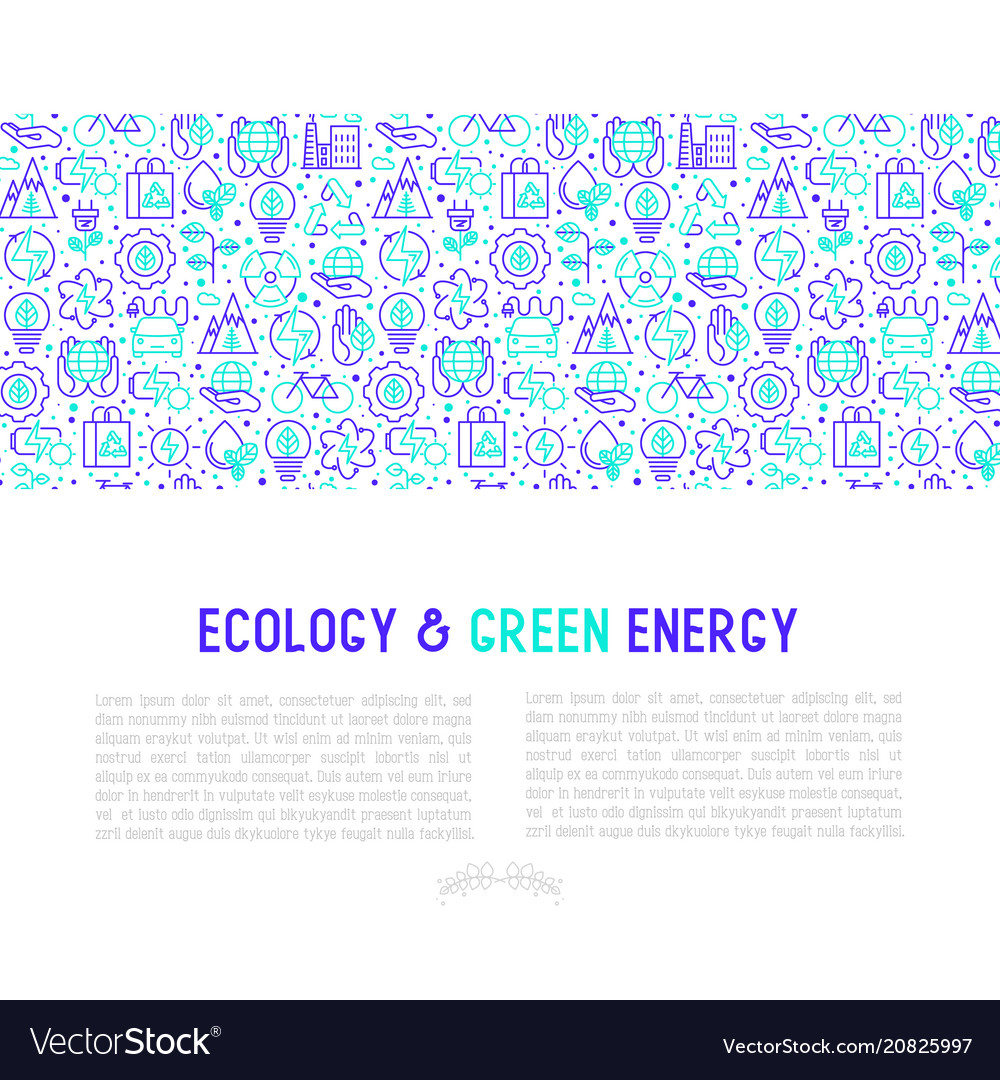 Ecology and green energy concept
