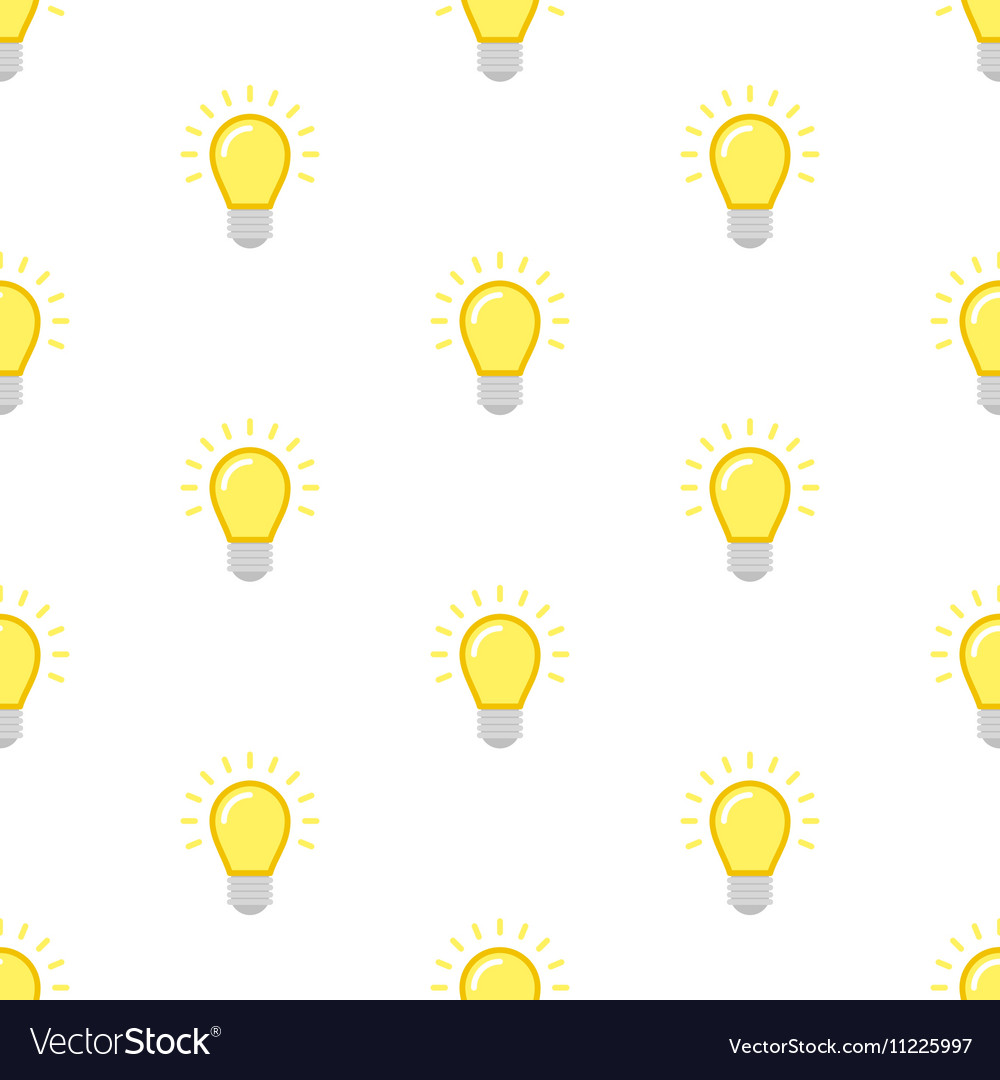 Light bulb seamless pattern vector image