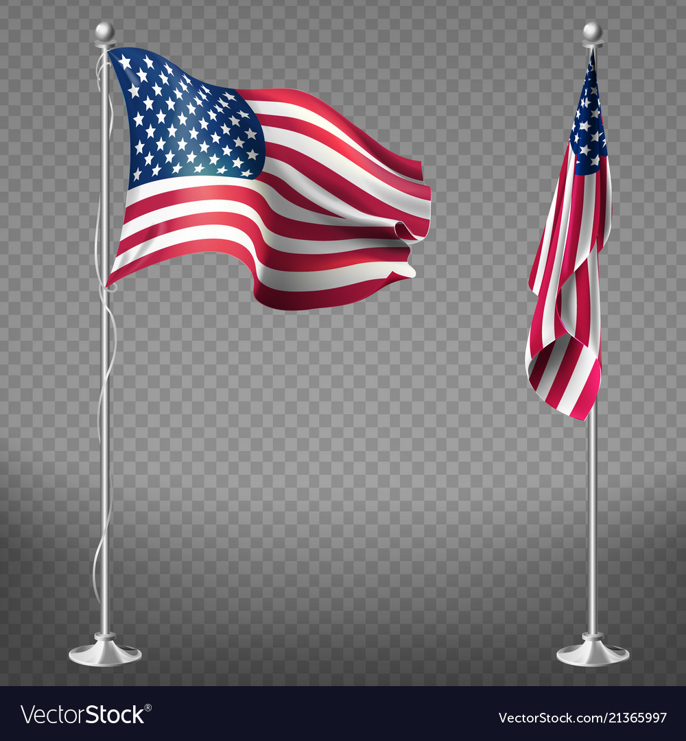 Realistic flags united states america