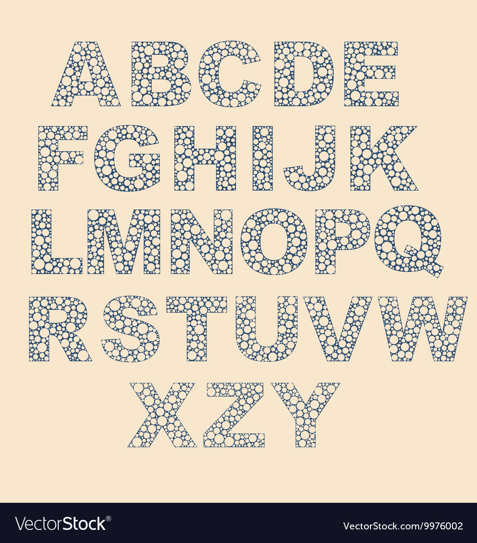 Alphabet with dots