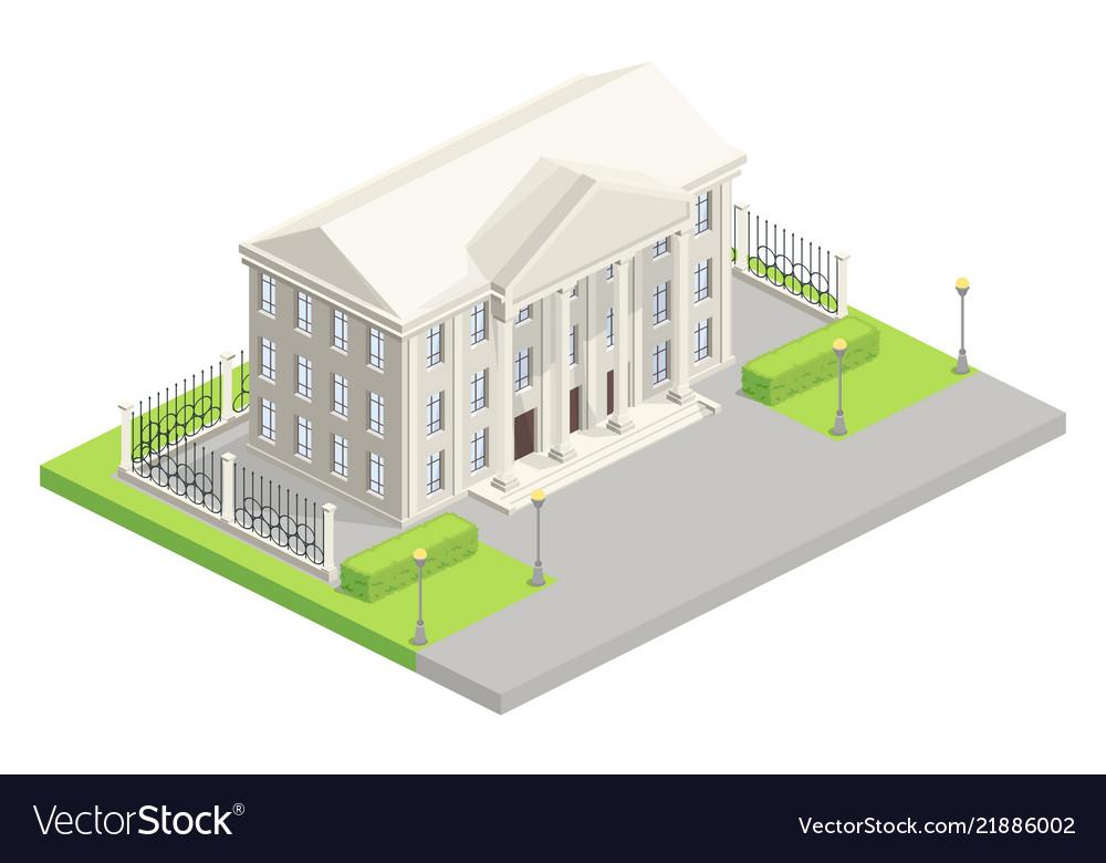 City hall parliament isometric