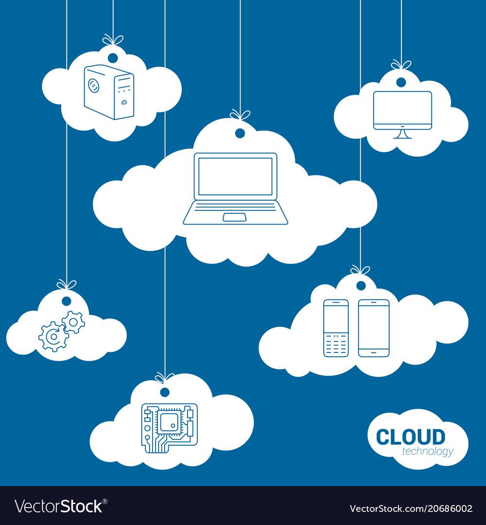Cloud network technology concept