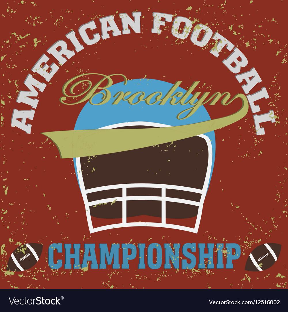 Football brooklyn vector image