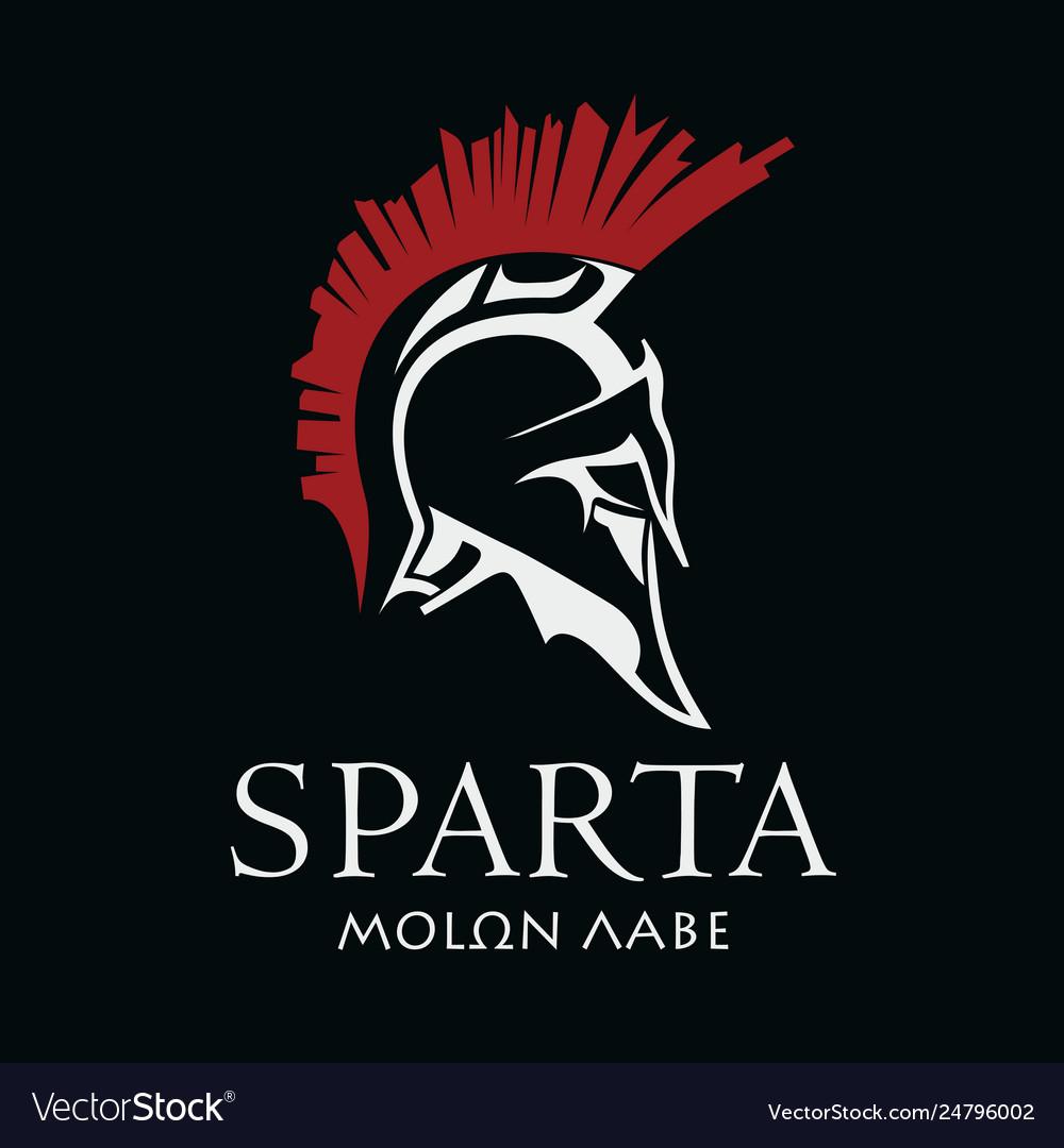 Helmet ancient spartan warrior