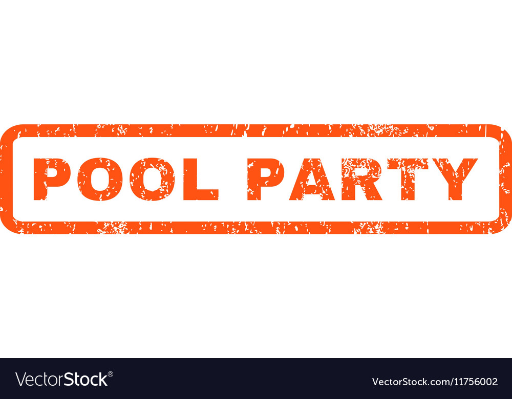 Pool Party Rubber Stamp