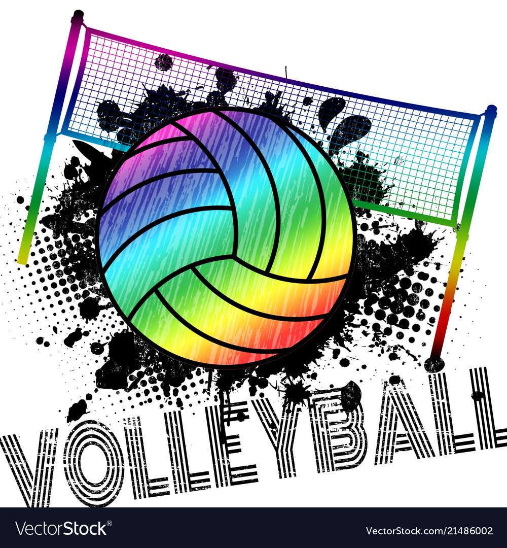 Poster or banner with a volleyball ball and
