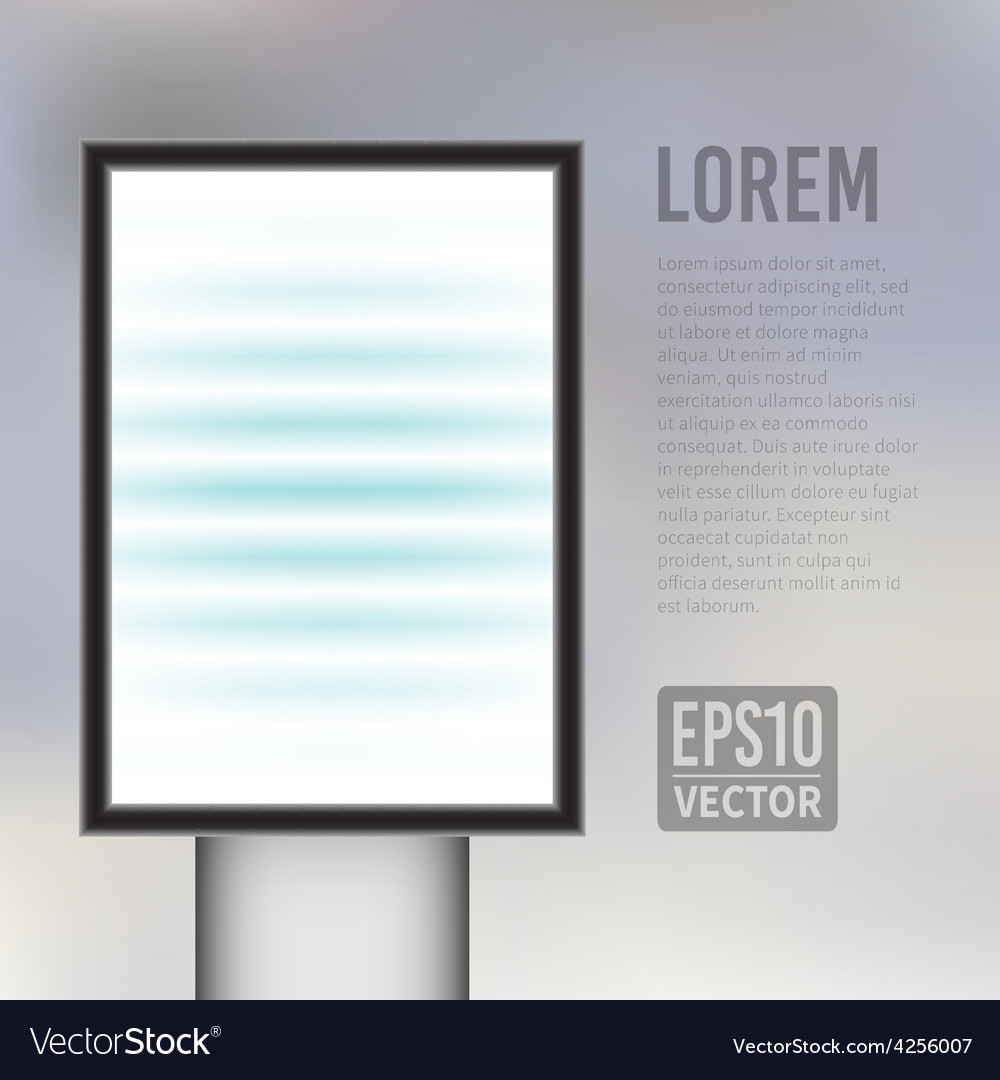 Empty vertical light billboard background