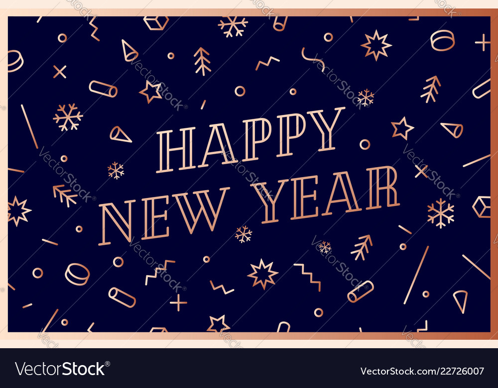 Happy new year greeting card happy new year