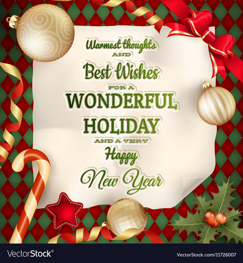 Holidays Greeting And Christmas Card Eps 10 Vector Image On Vectorstock
