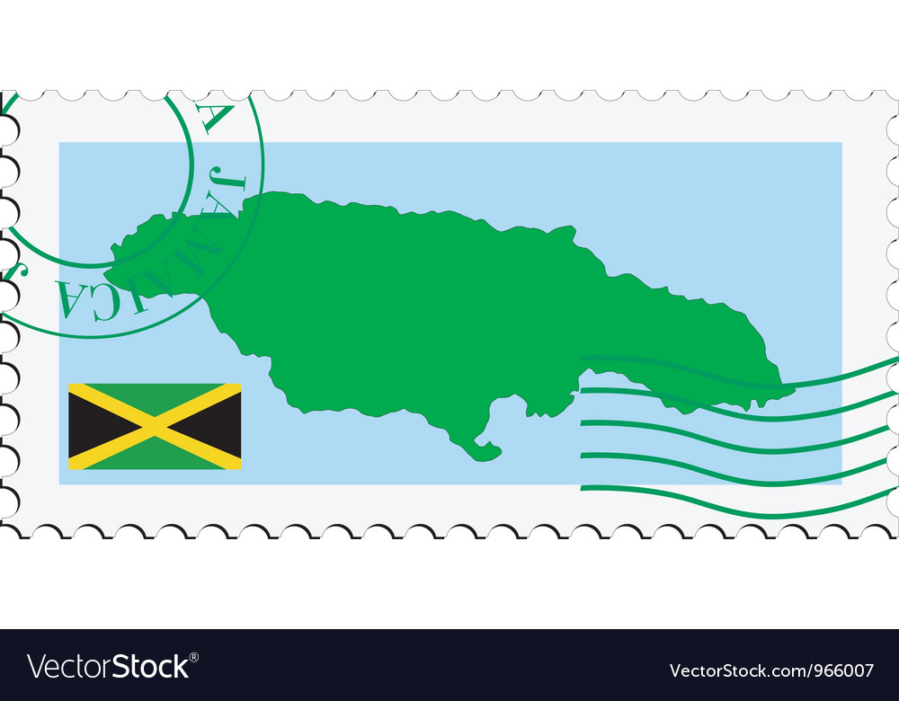 Mail to-from Jamaica vector image