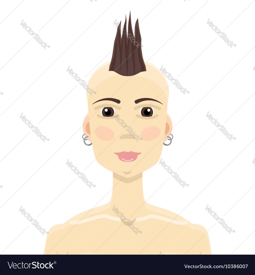 Mohawk hairstyle asian girl